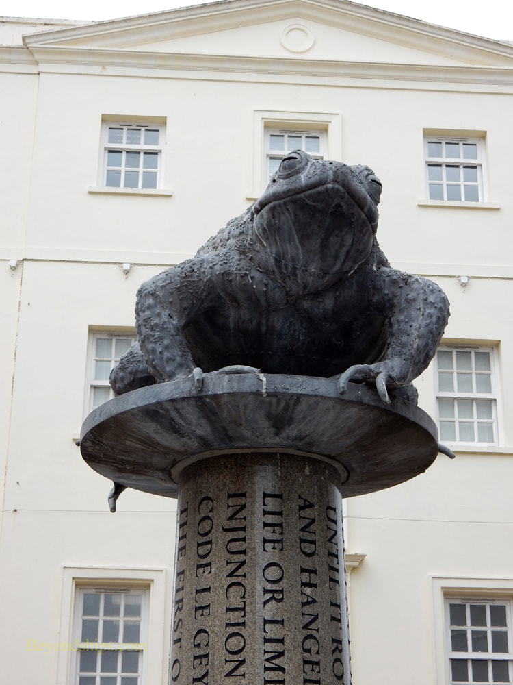 Toad statue, St. Helier, Jersey
