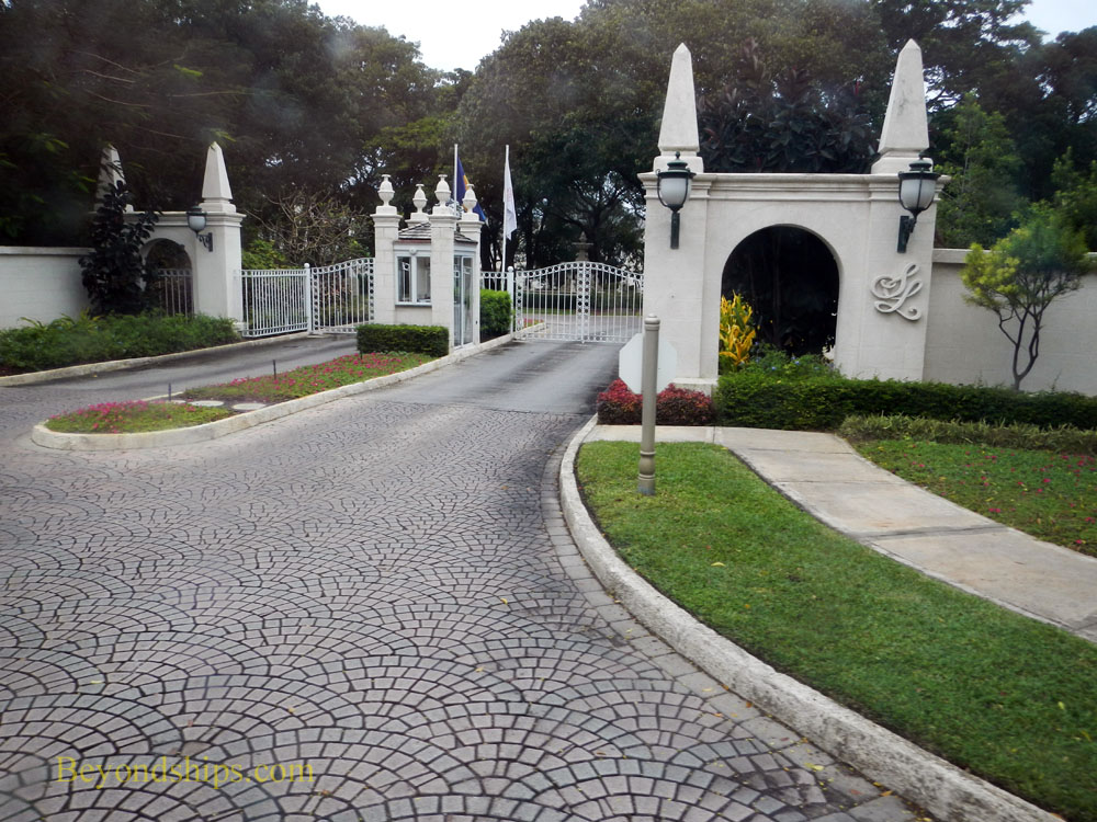 Entrance to Sandy Lane Resort, Barbados