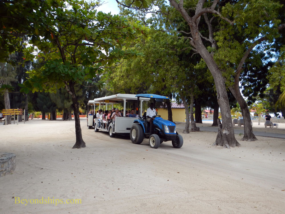 Tram at Royal Caribbean's Labadee