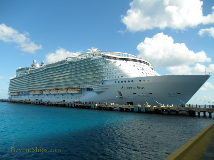 Allure of the Seas in Costa Maya cruise port