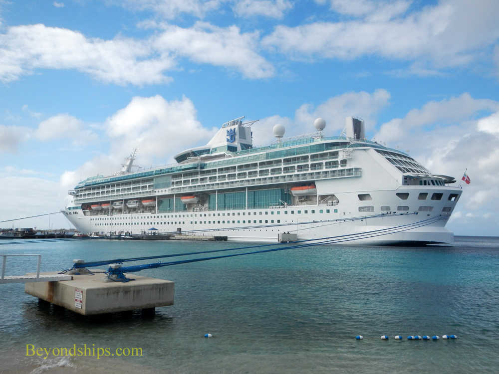Legend of the Seas cruise ship docked in Bonaire