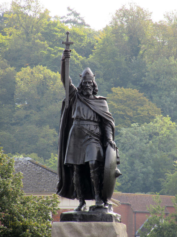 Alfred the Great statue, Winchester, England