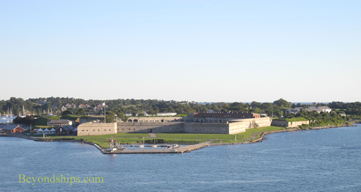 Fort Adams, Newport, Rhode Island with cruise ship Enchantment of the Seas