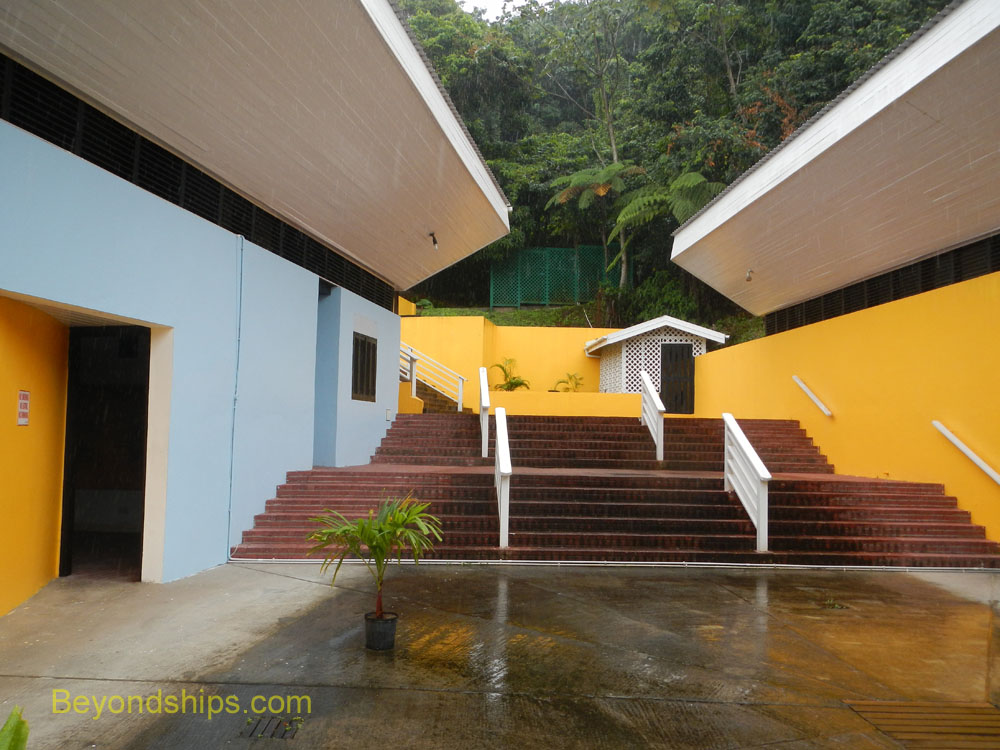 Interpretation center, Sulphr Springs National Park, St Lucia