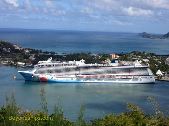 Norwegian Breakaway in St. Lucia