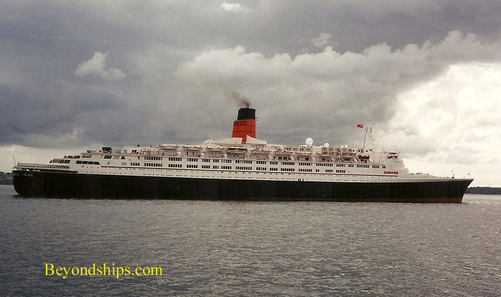 Queen Elizabeth 2 off Cobh Ireland