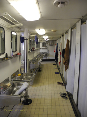 Enlisted bathroom, Royal Yacht Britannia