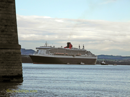 Queen Mary 2 tendering off South Queensferry, Scotland