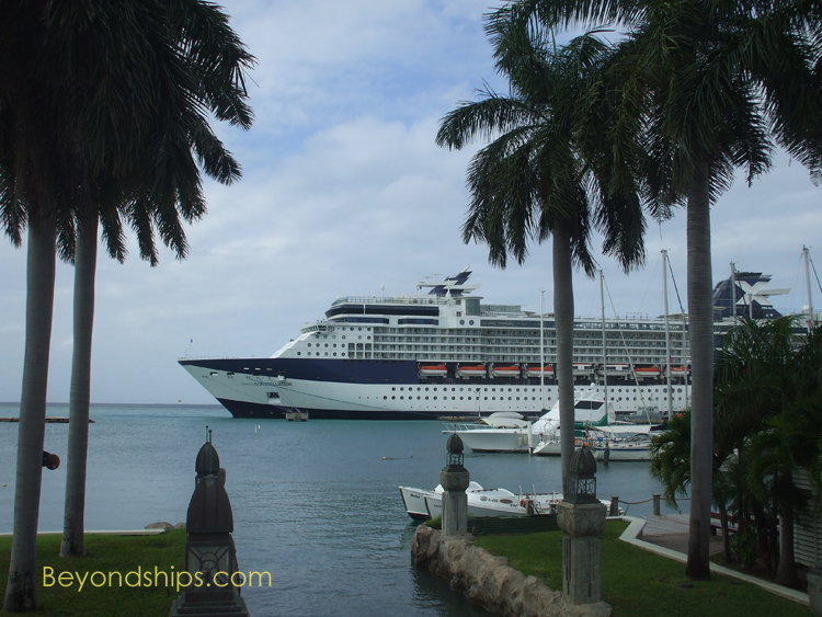 Celebrity Constellation cruise ship in Aruba