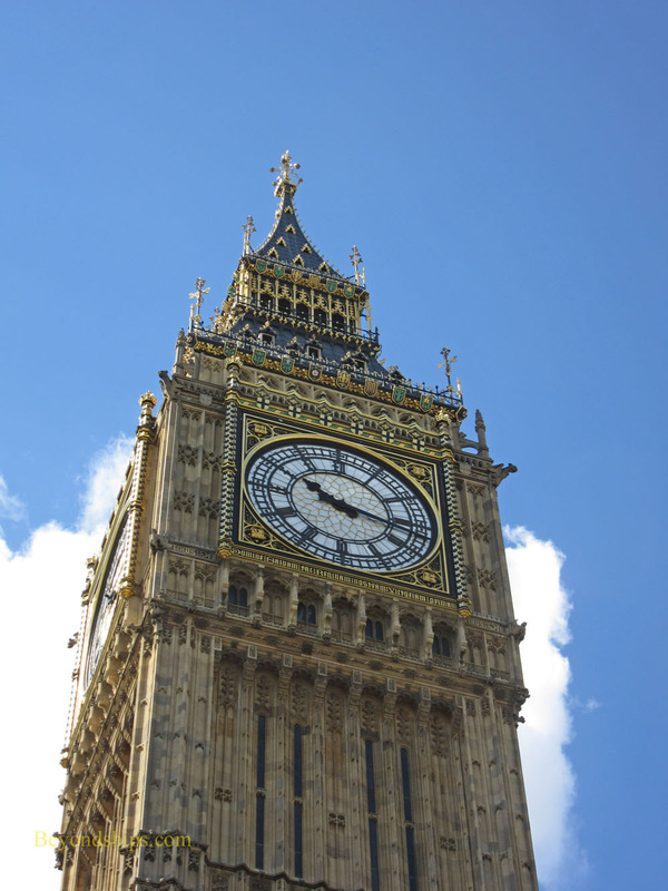 Big Ben clock tower, The Houses of Parliament, London, England