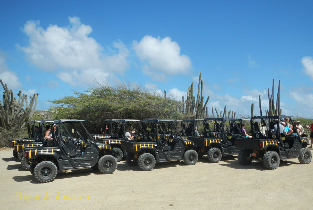 Aruba all-terrrain vehicles on a tour