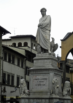 Statue of Dante, Santa Croce, Florence Italy