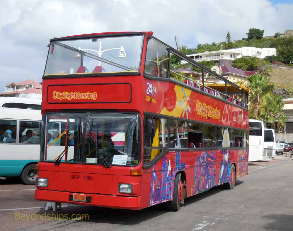 Double decker bus, St. Maarten