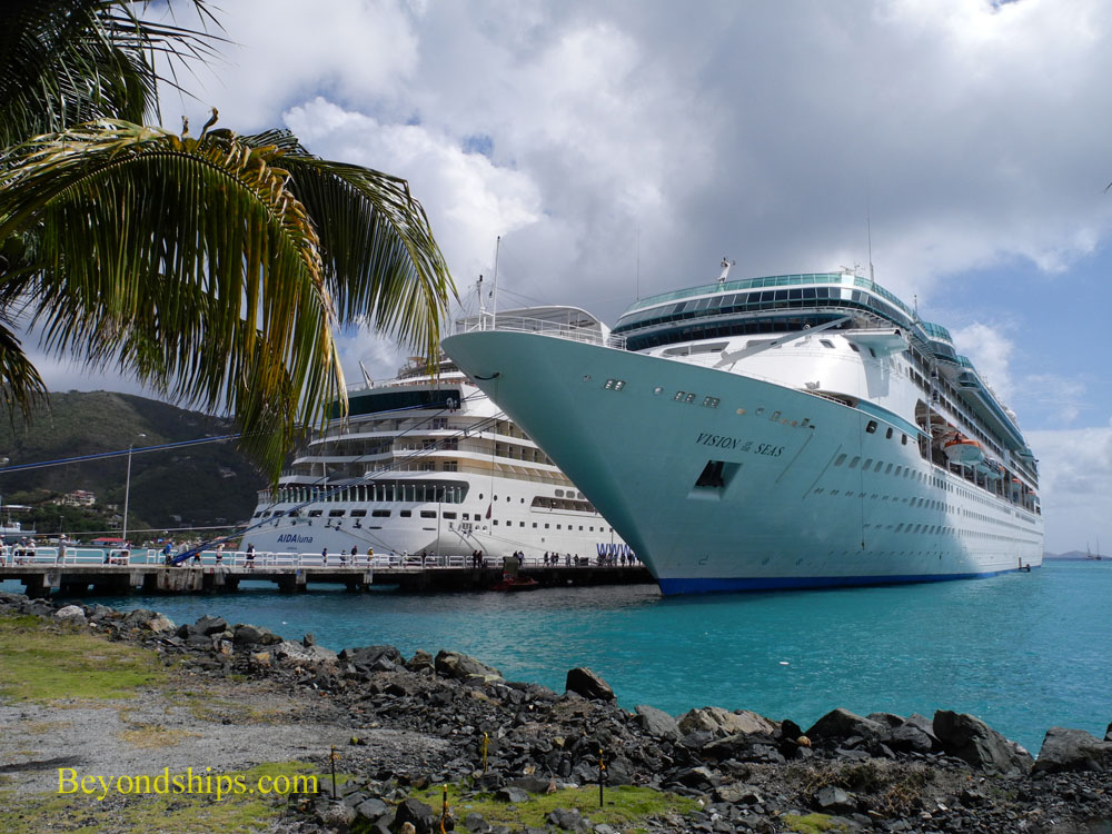 Cruise ship Vision of the Seas in Tortola, British Virgin Islands