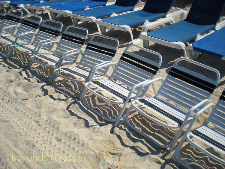 beach chairs Great Stirrup Cay