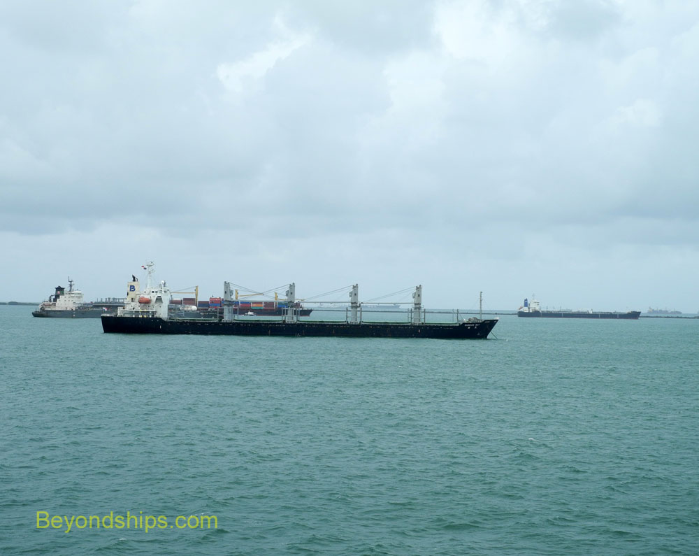 Ships in Limon Bay, Panama