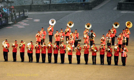 The Massed Pipes and Drums, Edinburgh Royal Military Tattoo, Edinburgh, Scotland