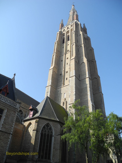The spire of the Chuch of Our Lady, Bruges