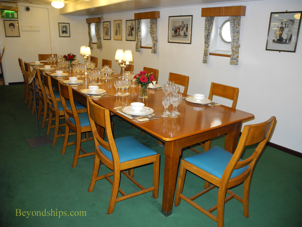 Royal Yacht Britannia, Wardroom