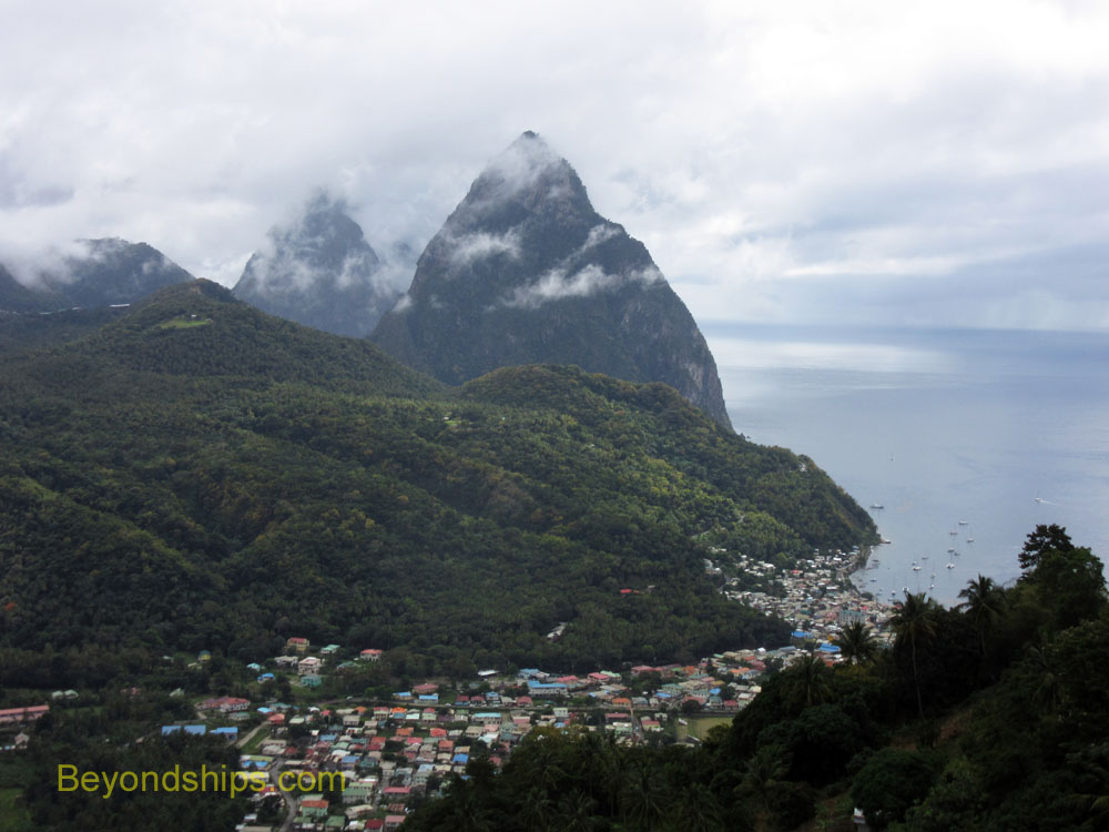 The Pitons and Soufriere, St Lucia
