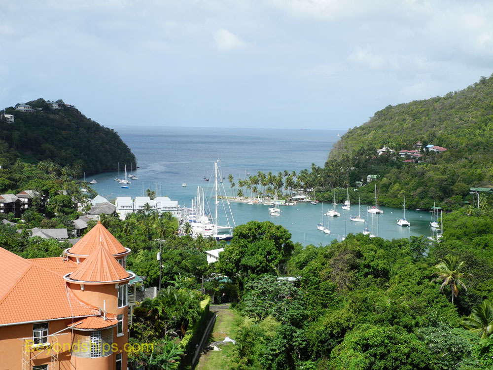 View of Marigot Bay, St. Lucia