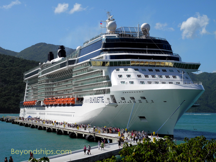 Cruise ship Celebrity Silhouette at Royal Caribbean's Labadee
