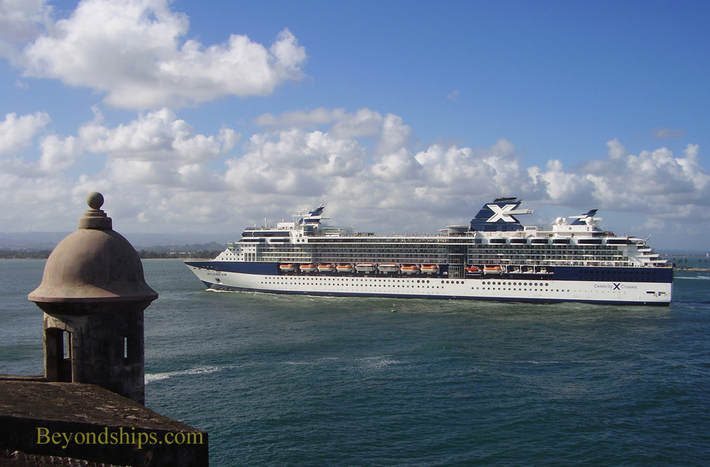 Picture El Morro and cruise ship Celebrity Millennium