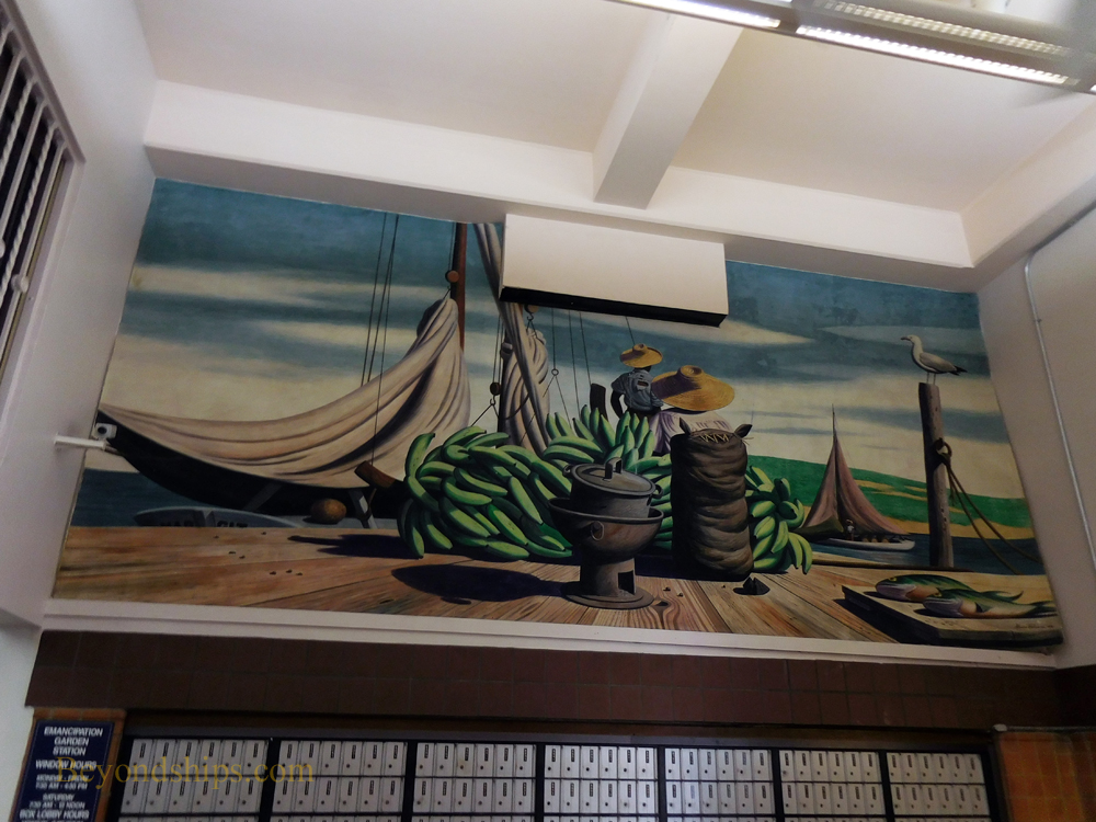 Mural, Emancipation Park Post Office, St. Thomas