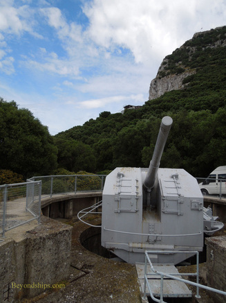 Princess Anne's battery on the Rock of Gibraltar