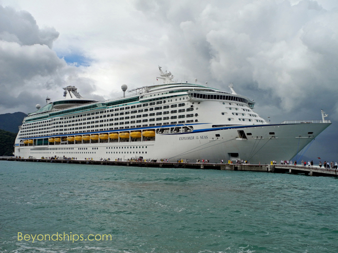 Explorer of the Seas cruise ship at Royal Caribbean's Labadee