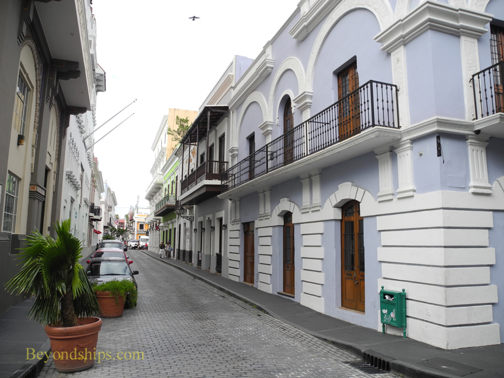 Picture Cristo street, Old San Juan, cruise destination