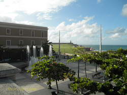 Picture Plaza del Quinto Centenario, Old San Juan, cruise destination