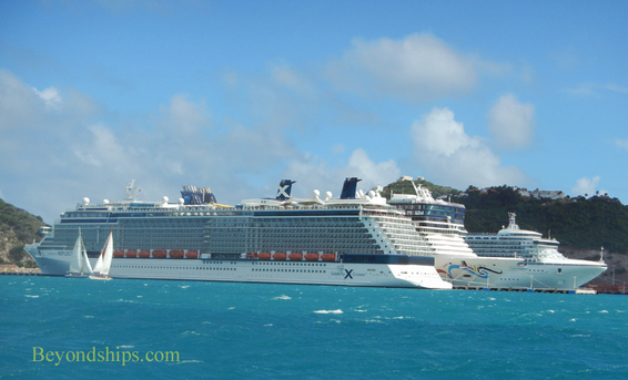 Cruise ships in cruise port St Maarten