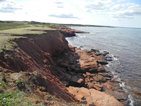 Red sandstone cliffs Prince Edward Island National Park