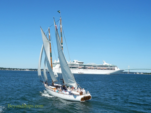 Newport, Rhode Island with cruise ship Enchantment of the Seas