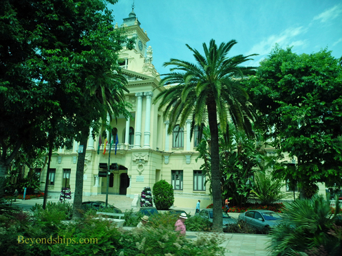 Picture City Hall, Malaga, Spain