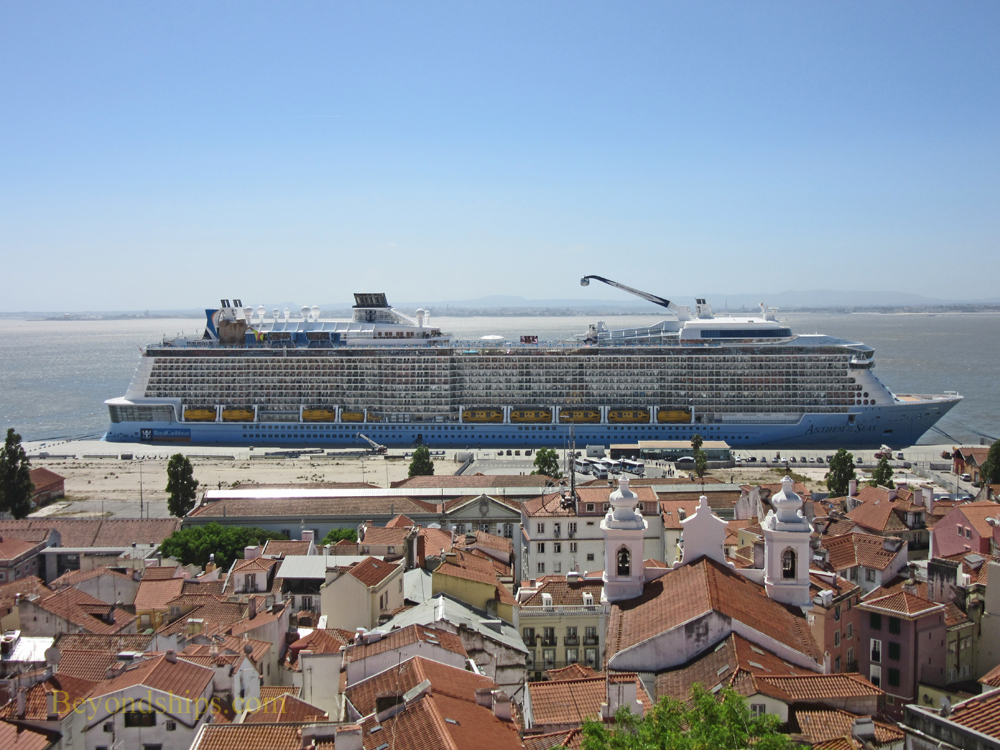Cruise ship Anthem of the Seas at Lisbon Santa Apolina cruise terminal