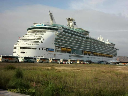 Navigator of the Seas at the cruise port, Gijon Spain