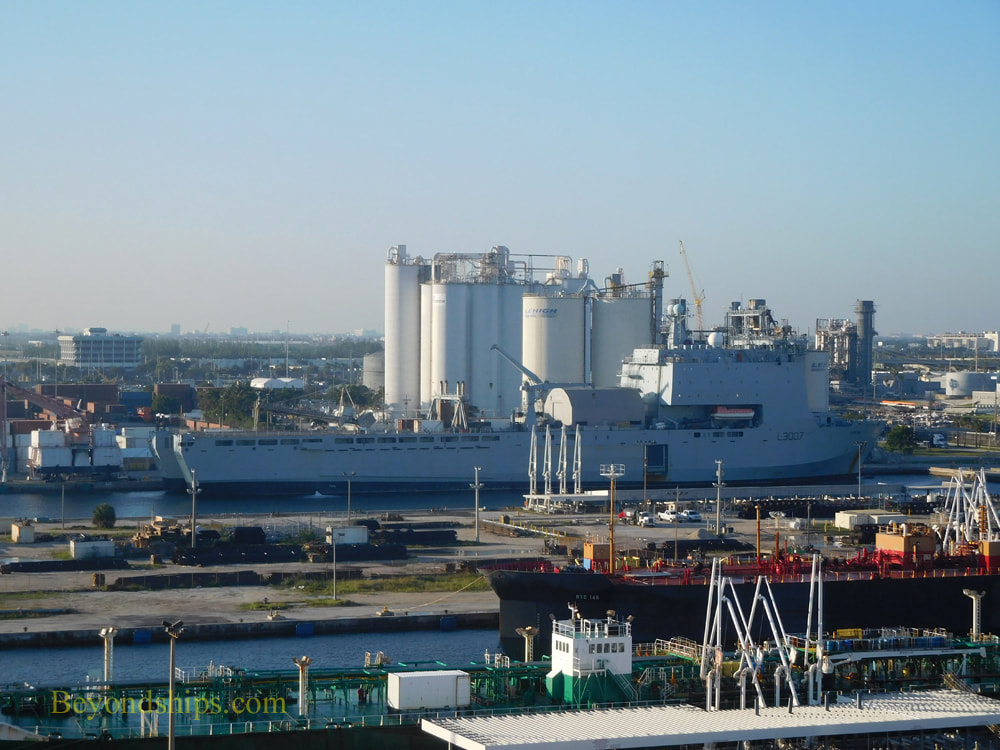 Navy ship in Port Everglades