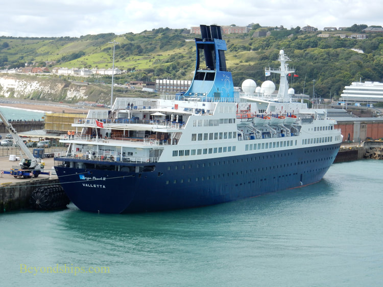 Cruise ship Saga Pearl 2 in Dover England