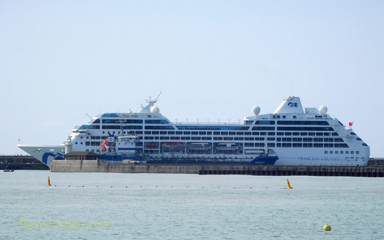 Cruise ship Pacific Princess in Dover England