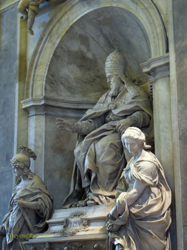 Monument to Pope Leo XI, St Peter's Basilica