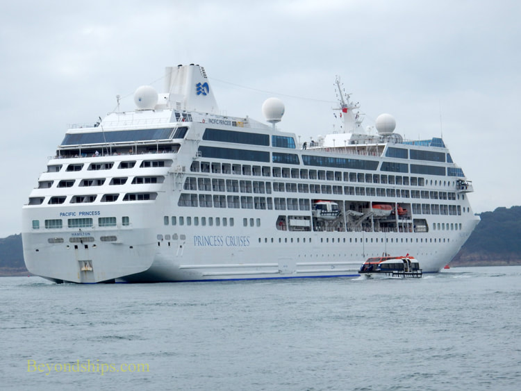 Pacific Princess tendering off Jersey