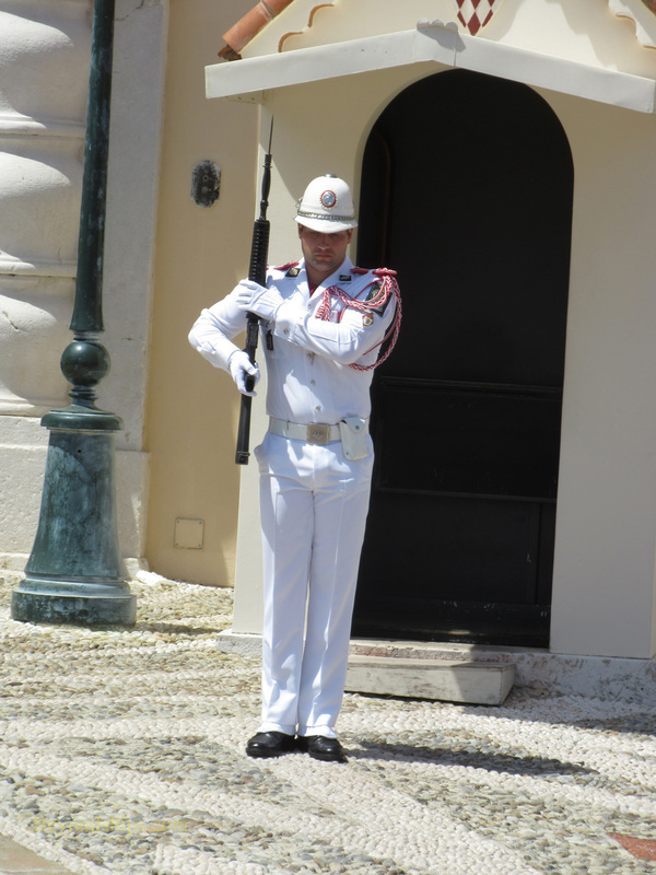 Guard at Prince's Palace, Monaco