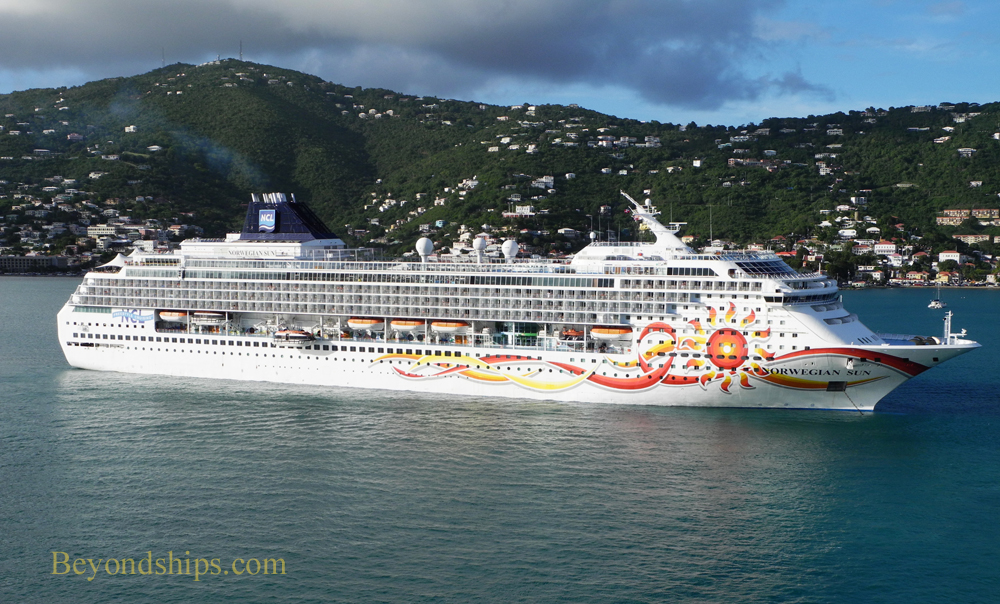Norwegian Sun cruise ship in St. Thomas