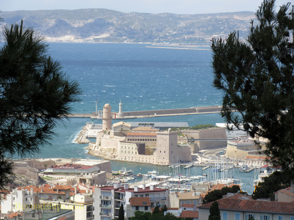 View of Old Port from Notre Dame du Gard, Marseille, France