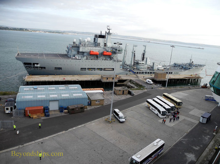 Cruise port, Portland Harbour, England