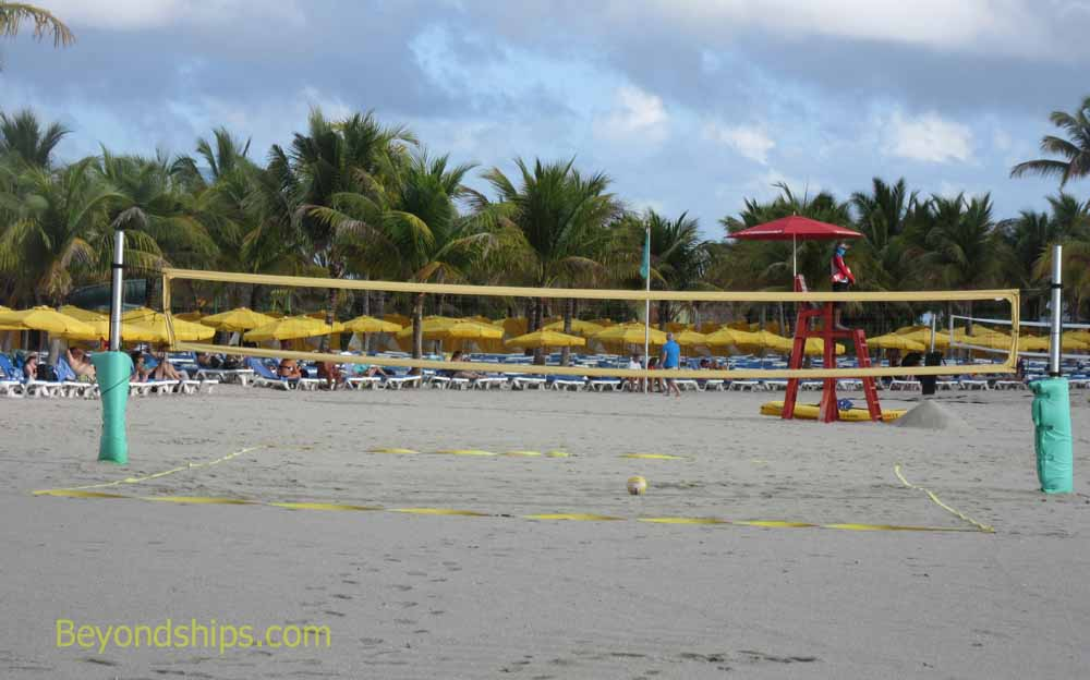 Harvest Caye beach volley ball