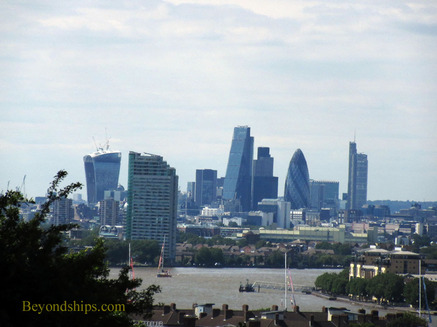 View of the City of London from Observatory Hill