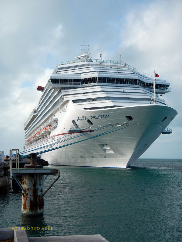 Carnival Freedom cruise ship in Key West